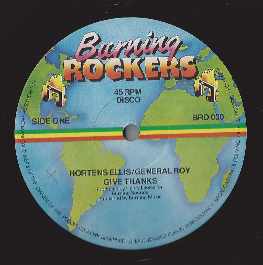 Hortense Ellis, General Roy - Give Thanks (Burning Rockers) (CRUCIAL CUTS)